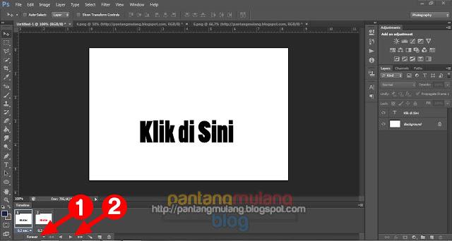 Cara Membuat Animasi GIF Tulisan Berkedip di Photoshop