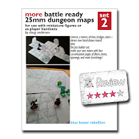 Frugal GM Review: More Battle Ready 25mm Dungeon Maps
