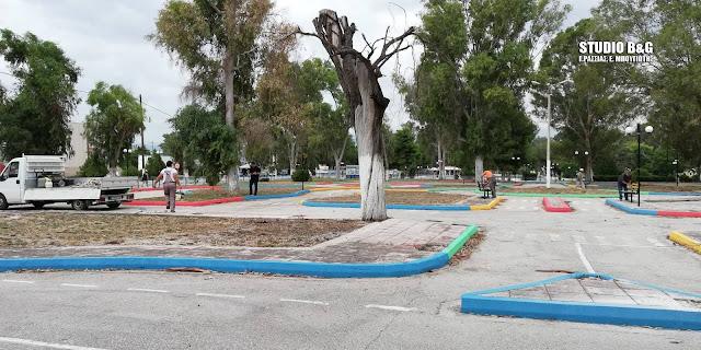Δίνει χρώμα ο Καμπόσος στο πρώην πάρκο κυκλοφοριακής αγωγής στη Νέα Κίο