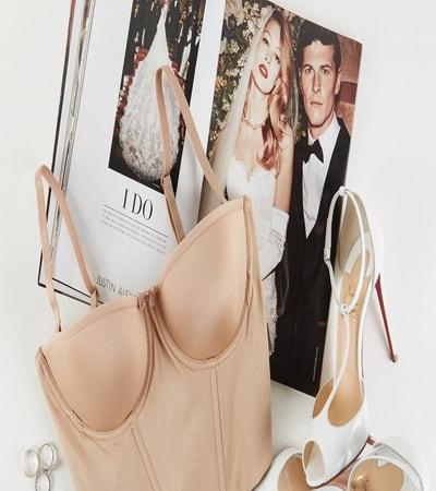 Bridal bra or corset