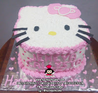 Kepala Hello Kitty Buttercream Cake