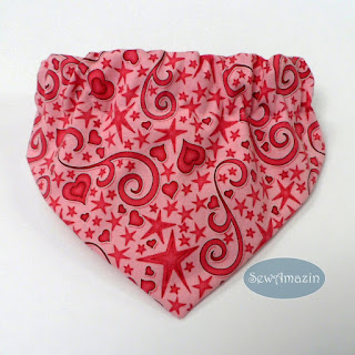 Hearts and Stars Dog Bandana, Pink