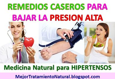 Remedios naturales alta presion