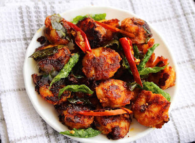 shrimp fry prawns fry masala fry prawn roast chemmeen fry konju fry ayeshas kitchen seafood recipes