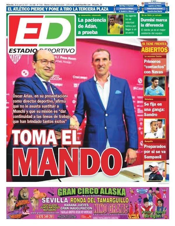 """Sevilla, Estadio Deportivo: """"Toma el mando"""""""