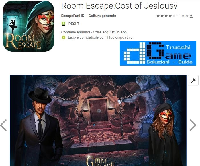 Soluzioni Room Escape Cost Of Jealousy di tutti i livelli | Walkthrough guide