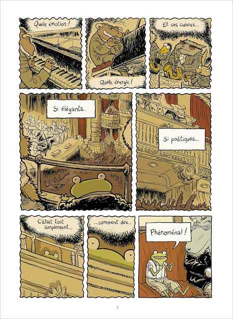 page extraite de Le Petit rêve de Georges Frog de Phicil et Drac chez Soleil