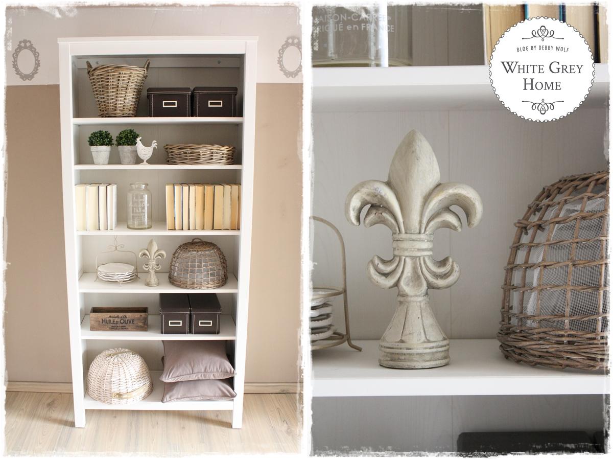 White Grey Home Vorher Nacher Im Bucherregal Im Landhausstil