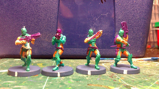 Myrmidon troop, painting aleph in the worlds of infinity the game.
