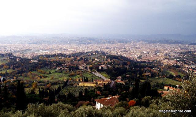 Florença vista da cidade de Fiésole, na Toscana