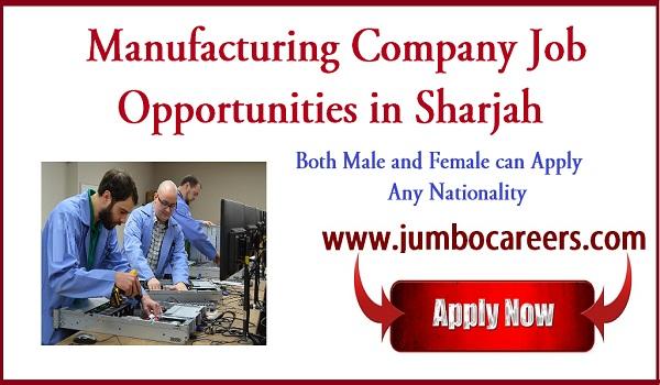 Sharjah jobs for Indians, Jobs in consumer goods Sharjah 2018,