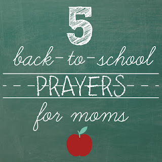 5 back to school prayers for Moms