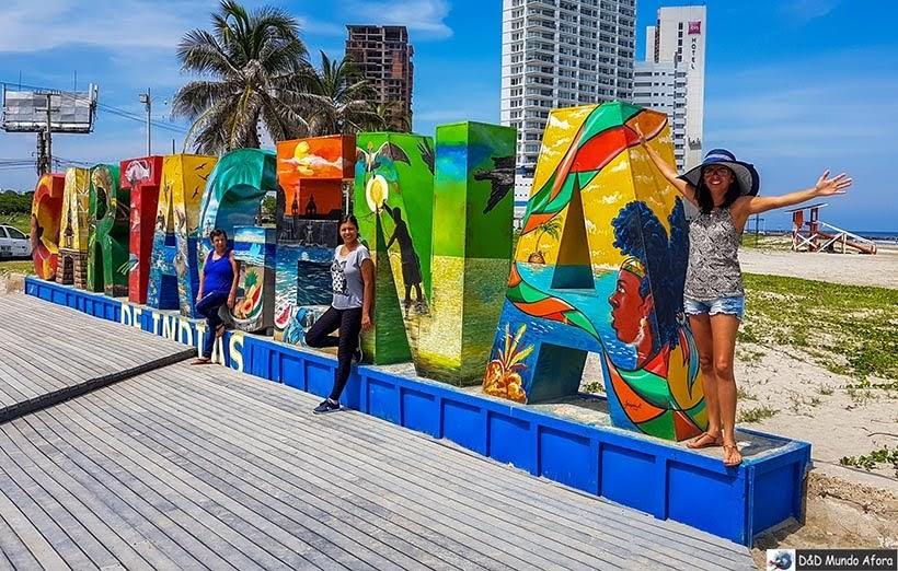 Letreiro Cartagena - Diário de bordo: 4 dias em Cartagena, Colômbia