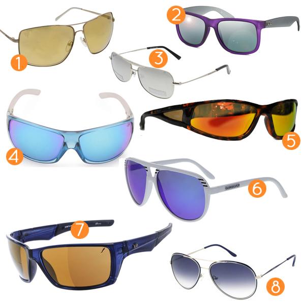 Óculos Ray Ban, modelo Justin  R  400 3. Óculos de lente espelhada prateada  Harley Davidson, modelo Road  R  260 4. Óculos de lente espelhada azul  Mormaii, ... b5d458ca5a