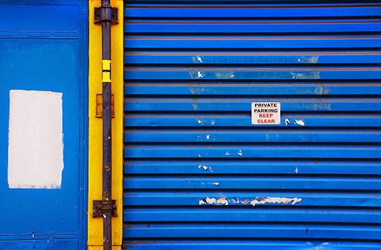 urban photography, yellow, blue, white