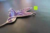 Loch: Kunstvolles Silber Halskette mit Kolibri Anhänger