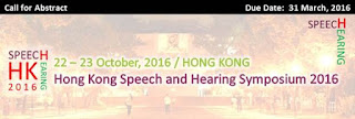 研討會推介 : Hong Kong Speech and Hearing Symposium 2016_call for abstract & registration