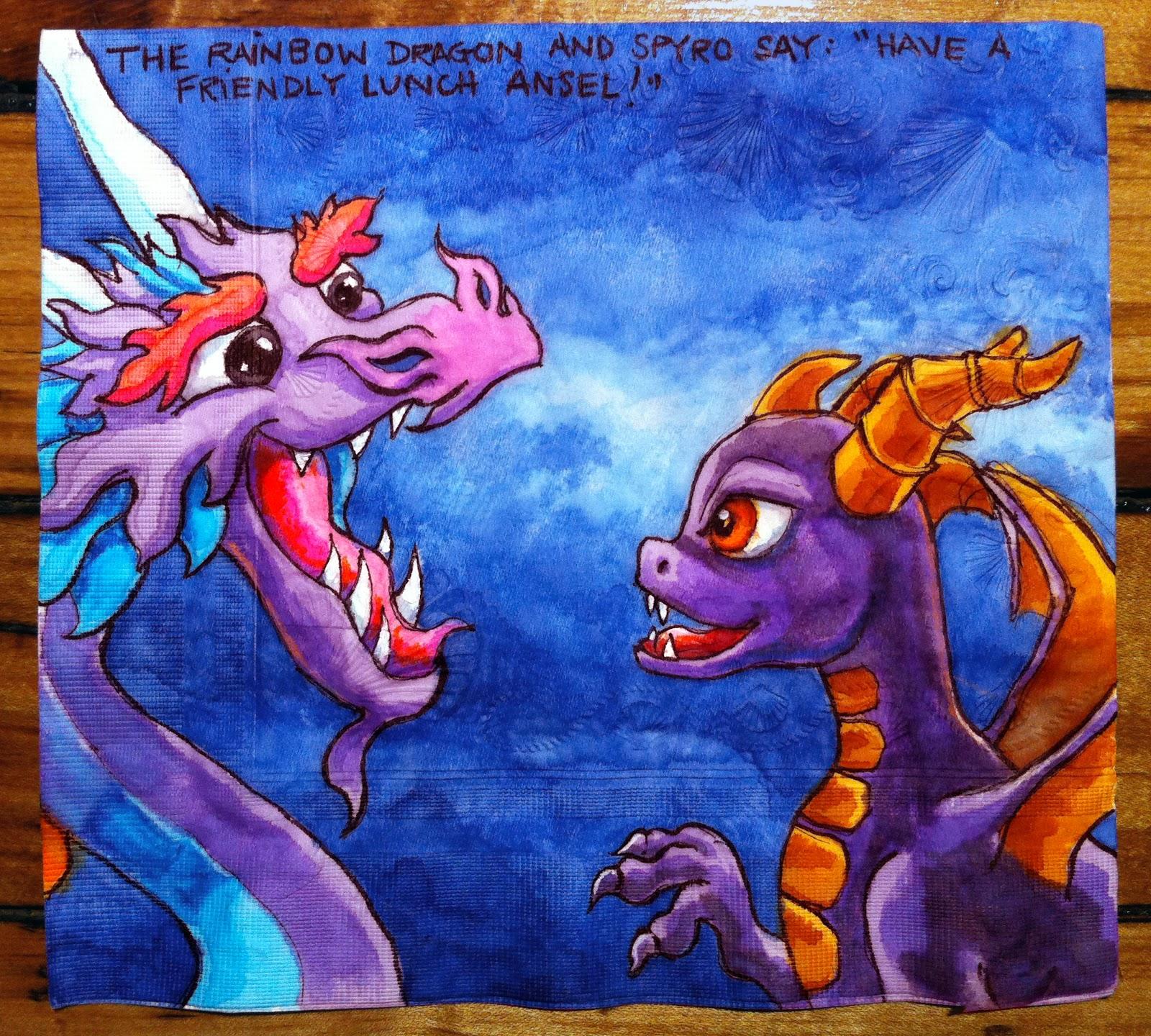 Daily Napkins Dragonvale Rainbow And Skylanders Spyro Dragons