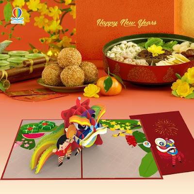 New year greeting Chinese