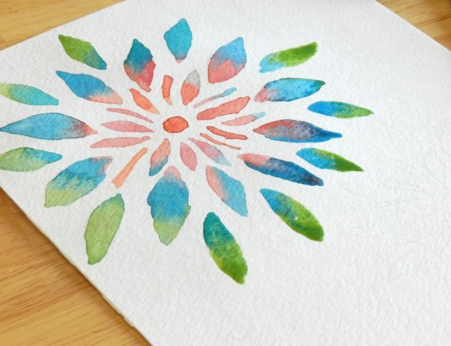 Watercolor Flower Painting