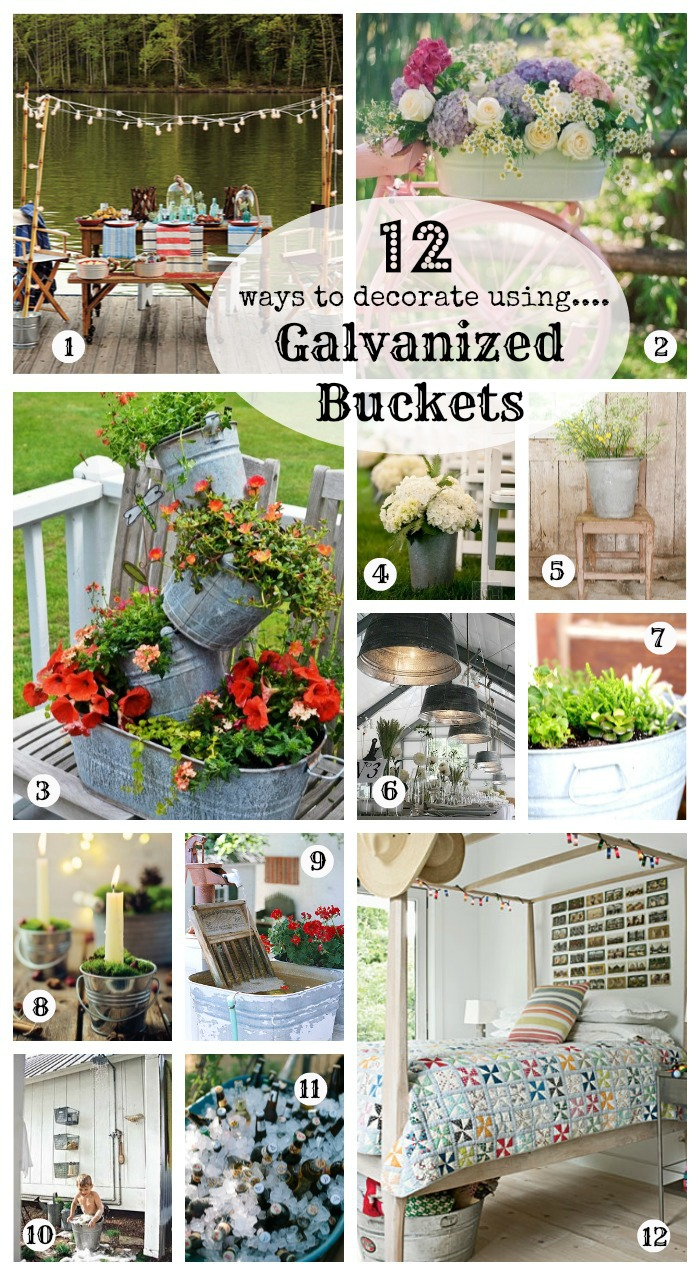 Do you have a love for galvanized buckets and seem to