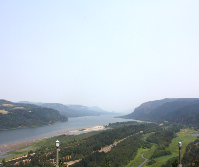 View of the Columbia River from the Vista House in Oregon.