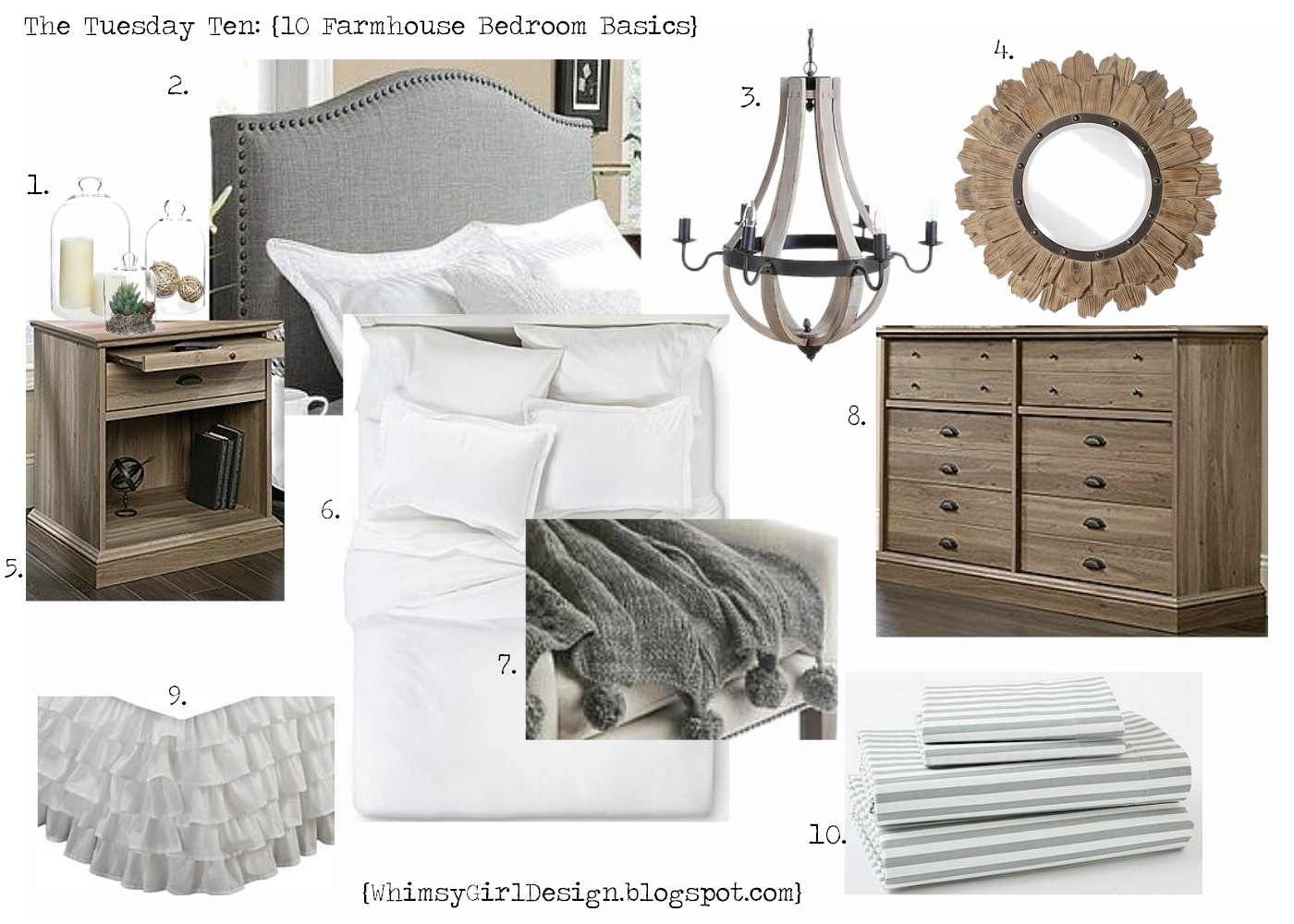 A Ruffled Bed Skirt Rustic Lighting Simple Accessories And Beautiful Wood Furniture Would Make This Bedroom Cozy Serene Retreat