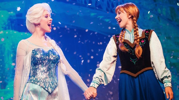 Show do Frozen no Disney Holywod Studios em Orlando