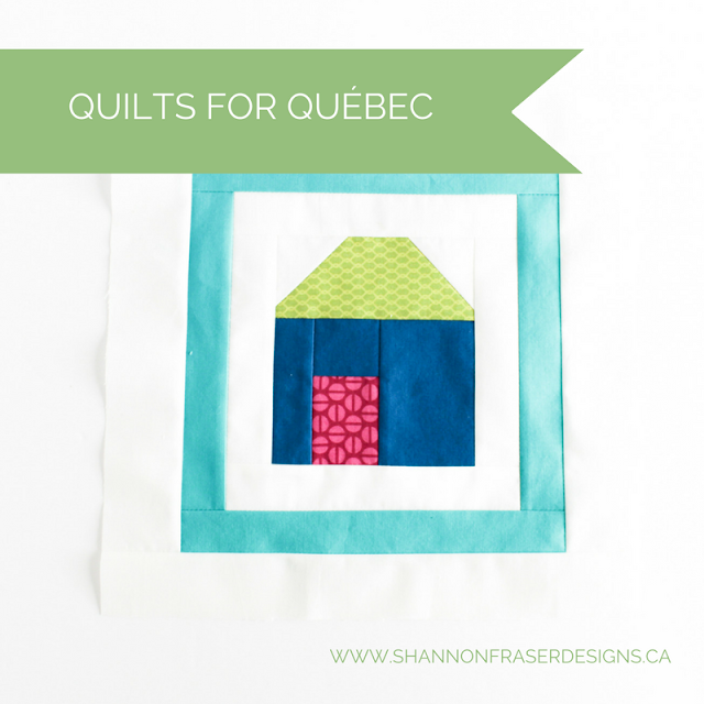 Quilts for Québec | Free Quilted House Pattern | Shannon Fraser Designs | Modern Quilting | Fabric Scrap Project