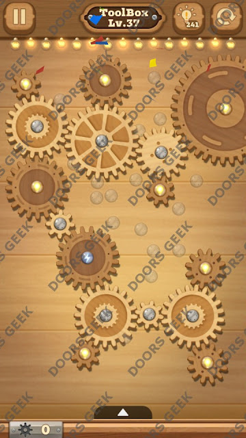 Fix it: Gear Puzzle [ToolBox] Level 37 Solution, Cheats, Walkthrough for Android, iPhone, iPad and iPod
