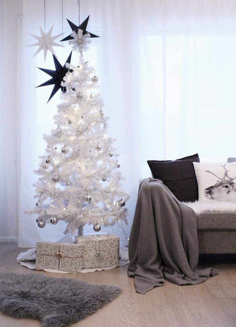 scandinavian white christmas decor