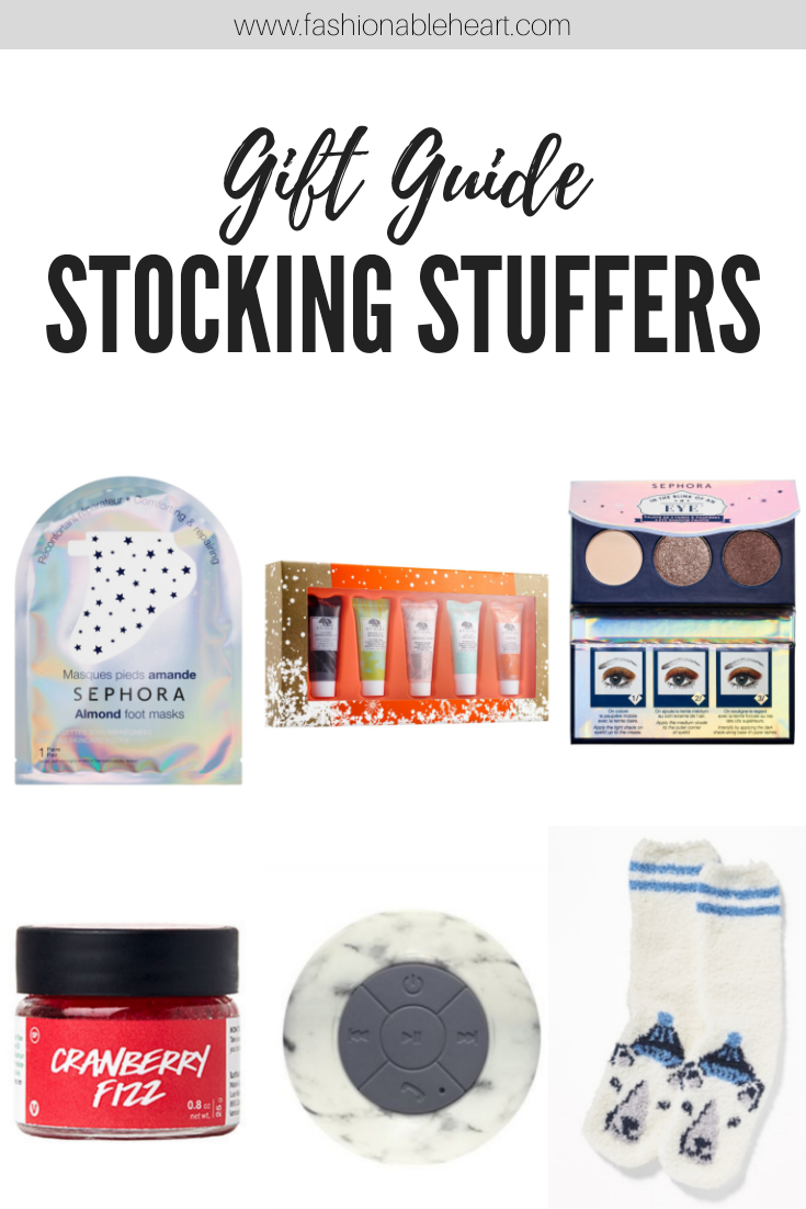 bblogger, bbloggers, bbloggerca, canadian beauty blogger, beauty blog, holiday, christmas, gift guide, ideas, sephora, sephora collection, foot mask, face mask, makeup, lush, lip scrub, tech, gadgets, bluetooth speaker, chapters, old navy, cozy socks, fuzzy socks, slippers, ideas, stocking stuffers
