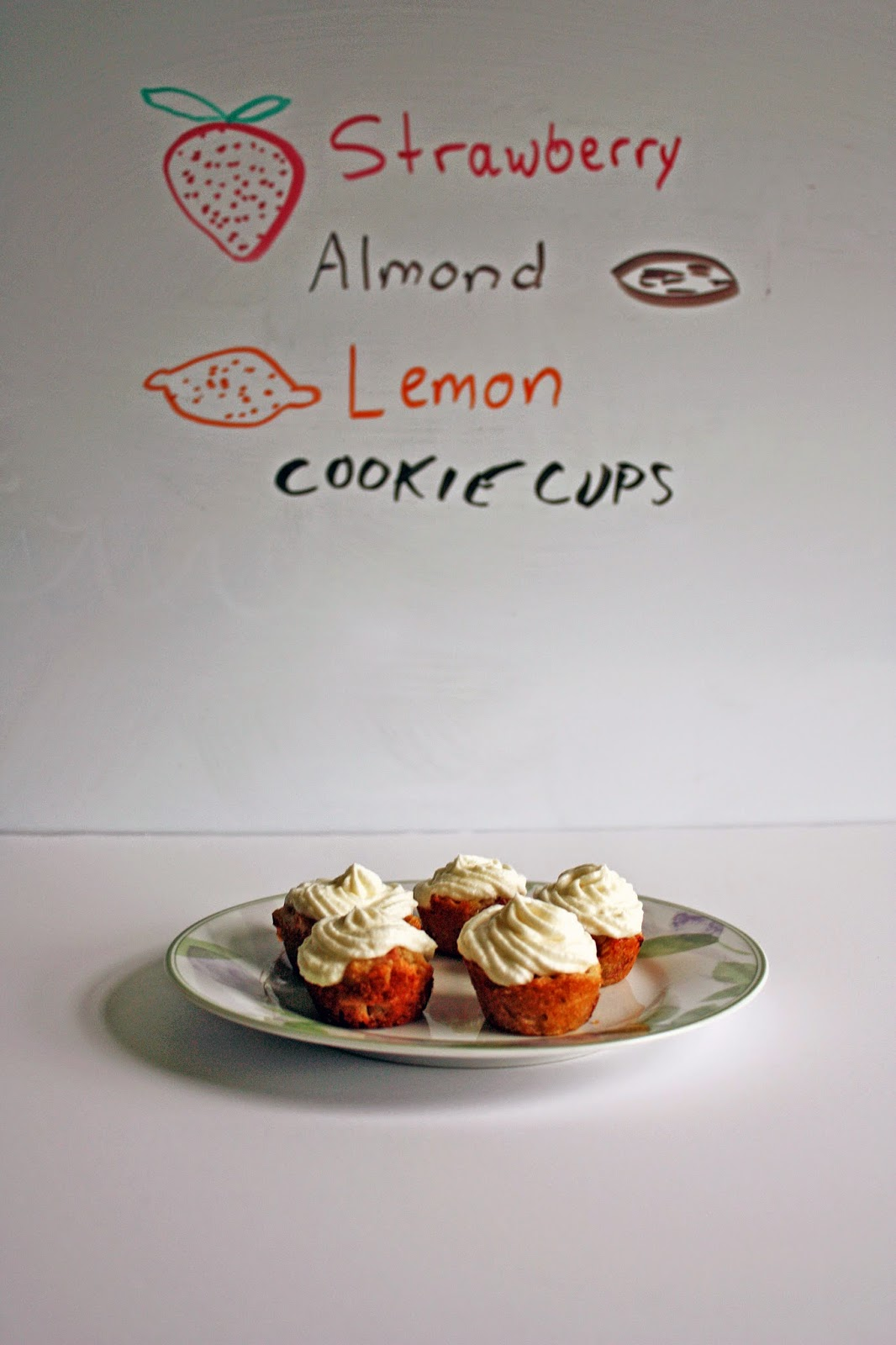 strawberry almond lemon cookie cups are delicious