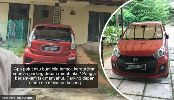 Parking di rumah jiran sebab nak potong rumput tapi terlupa nak alihkan, pemilik Myvi kesal keretanya dicalar dan 4 tayar dipancitkan