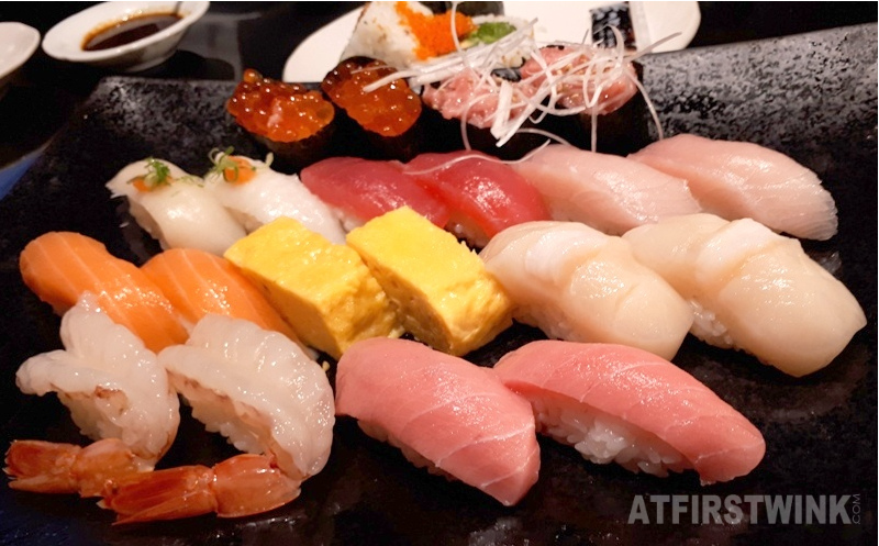 sen-ryo sushi restaurant Hysan place mall Causeway Bay Deluxe Sushi platter 20 pieces