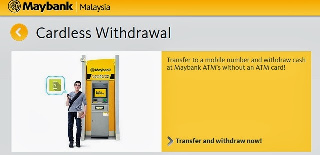 Maybank Cardless Withdrawal New Service Launched