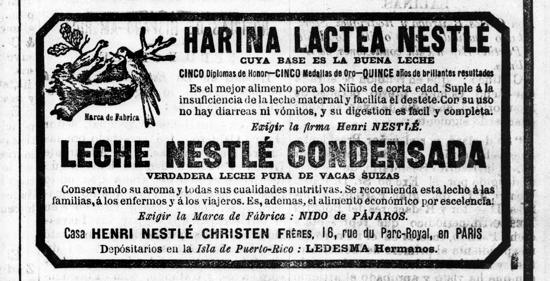 Nestlé advertisement 1882
