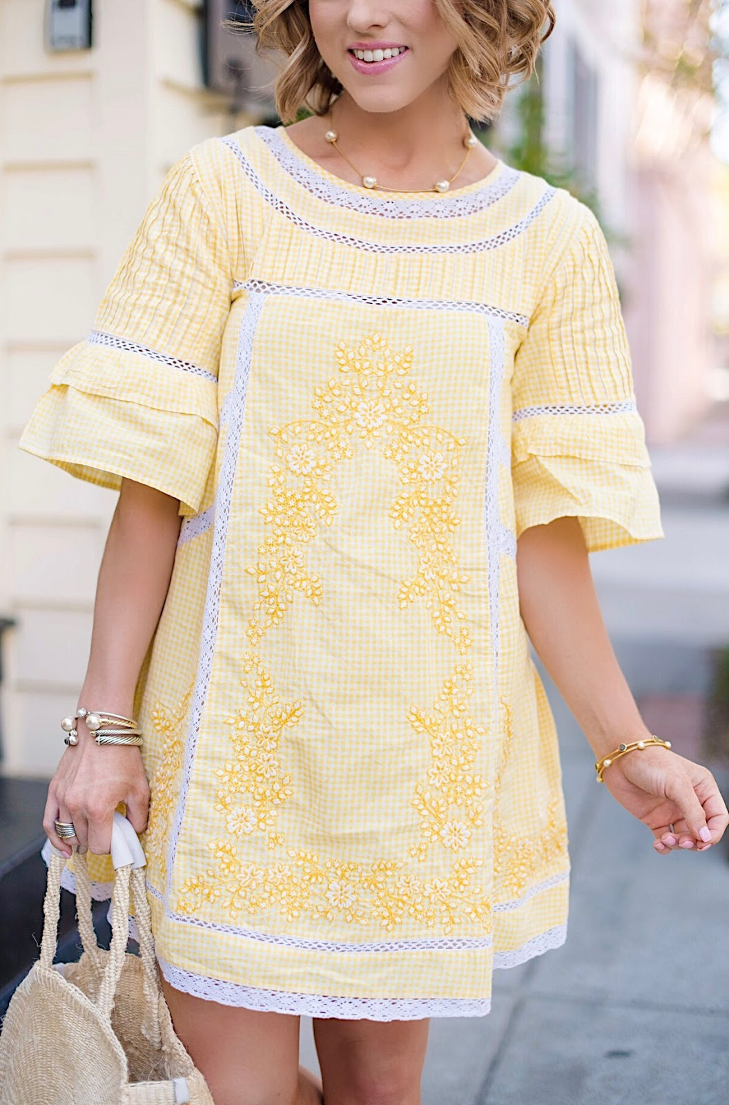 Free People Sunny Day Dress + Clare V Alice Bag in Charleston - Something Delightful Blog