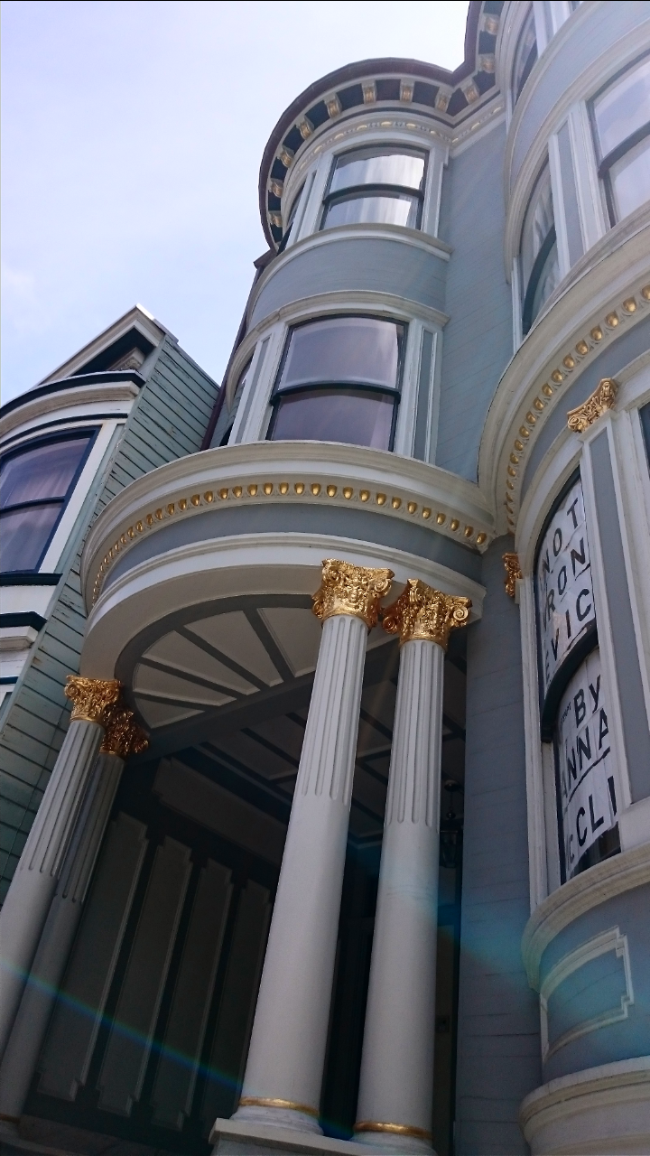Gilded Gold Victorian House in San Francisco