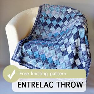Entrelac Throw Knitting Pattern