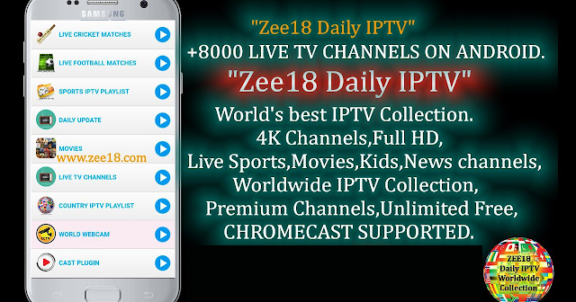 Zee18 New APK IPTV FOR ANDROID - 4satiptv