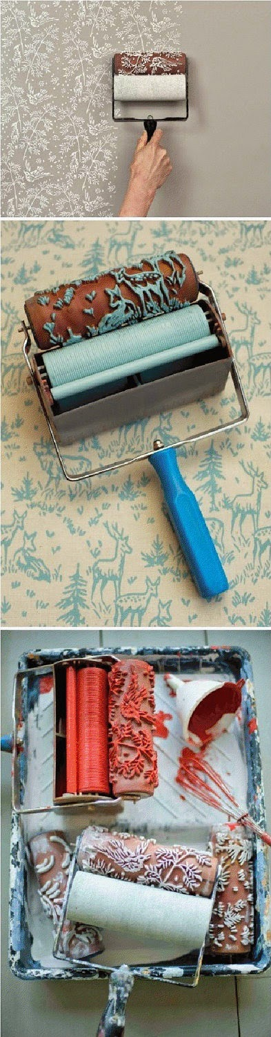 DIY : Patterned Paint Roller and Applicator - My Favorite ...