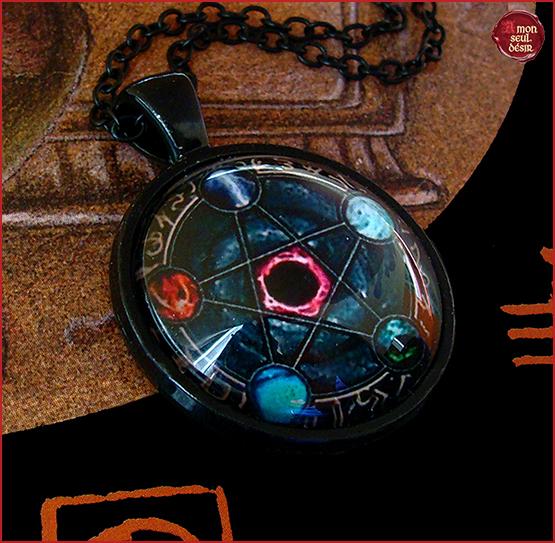 collier pentagramme pentacle necklace pentagram