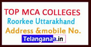 Top MCA Colleges in Roorkee Uttarakhand