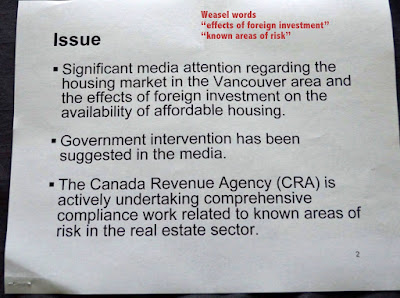 Canada Revenue Agency - leaked document - Vancouver housing investigation