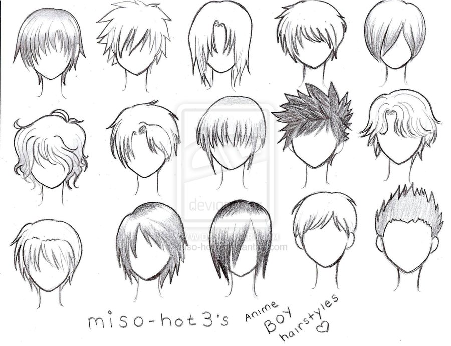 My Photos And Others: Anime Boy Hairstyles :D