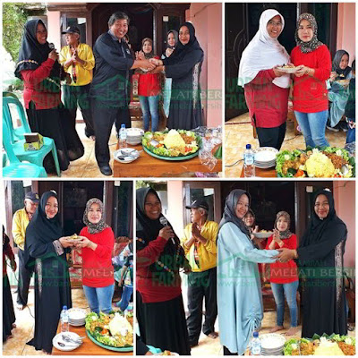 Pemotongan Tumpeng Launching Bank Sampah