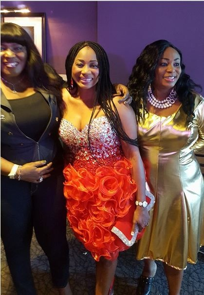 51-year-Old S*xy Star, Clarion Chukwurah Flaunts Cle'avage at a Movie Premiere (Photos)