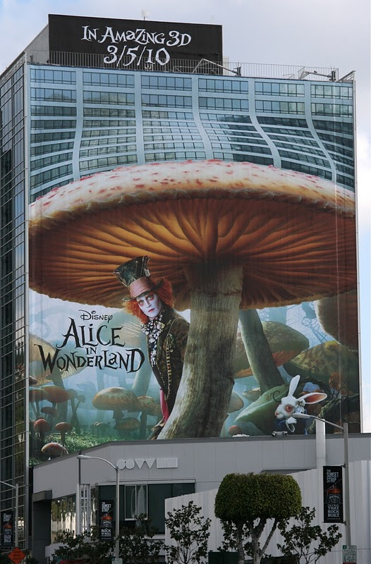 Alice on Wonderland movie billboard