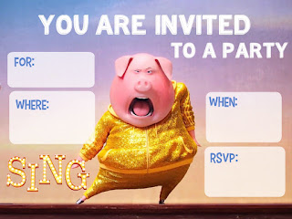 free sing movie invitations